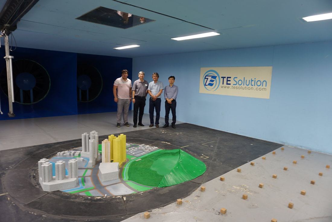 Professor Kenny Kwok visiting TESolution Wind Tunnel